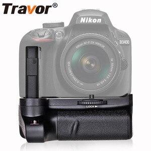 Image 1 - Travor Nuovo Arrivo Battery grip holder per Nikon D3400 DSLR di lavoro Della Macchina Fotografica con Uno o Due EN EL14 Batteria