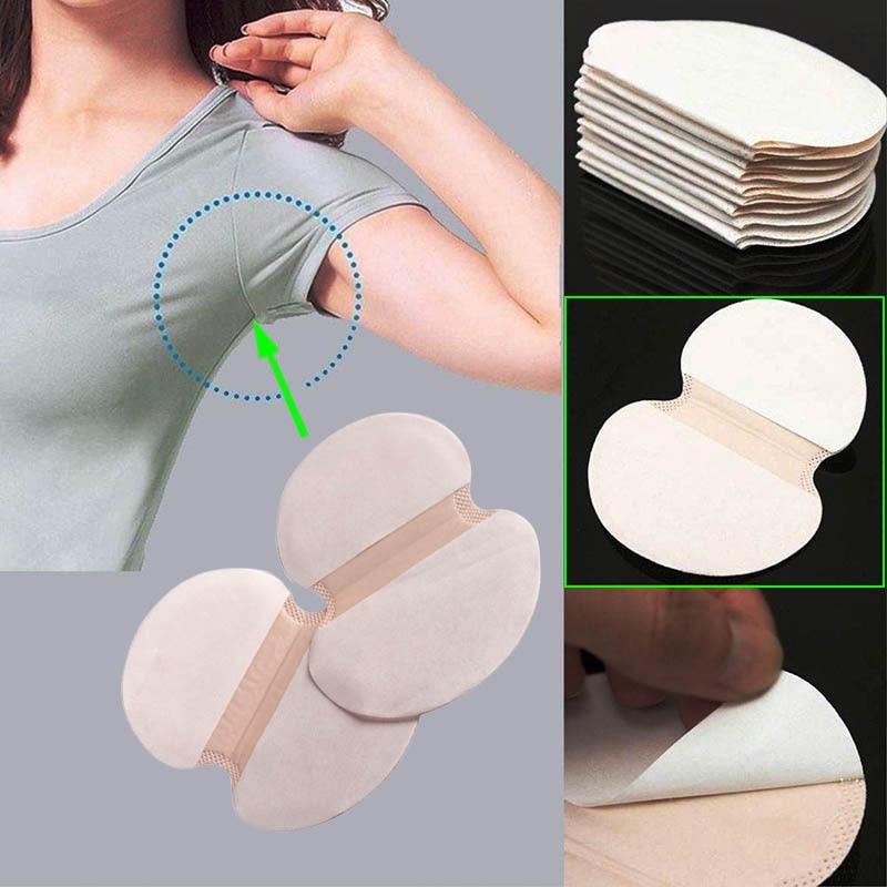 Hot S 50 Pcs/Set Summer Women Men Armpits Sweat Pad Disposable Deodorants Underarm Anti Perspiration Absorbing Pads 2017