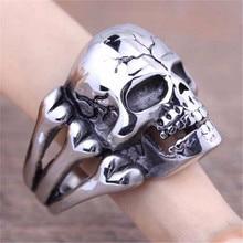 Skull Flower Biker Ring