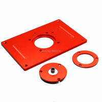 4Pcs Set Aluminum Router Table Insert Plate 200x300x10mm With Cover For Woodworking Engraving Machine