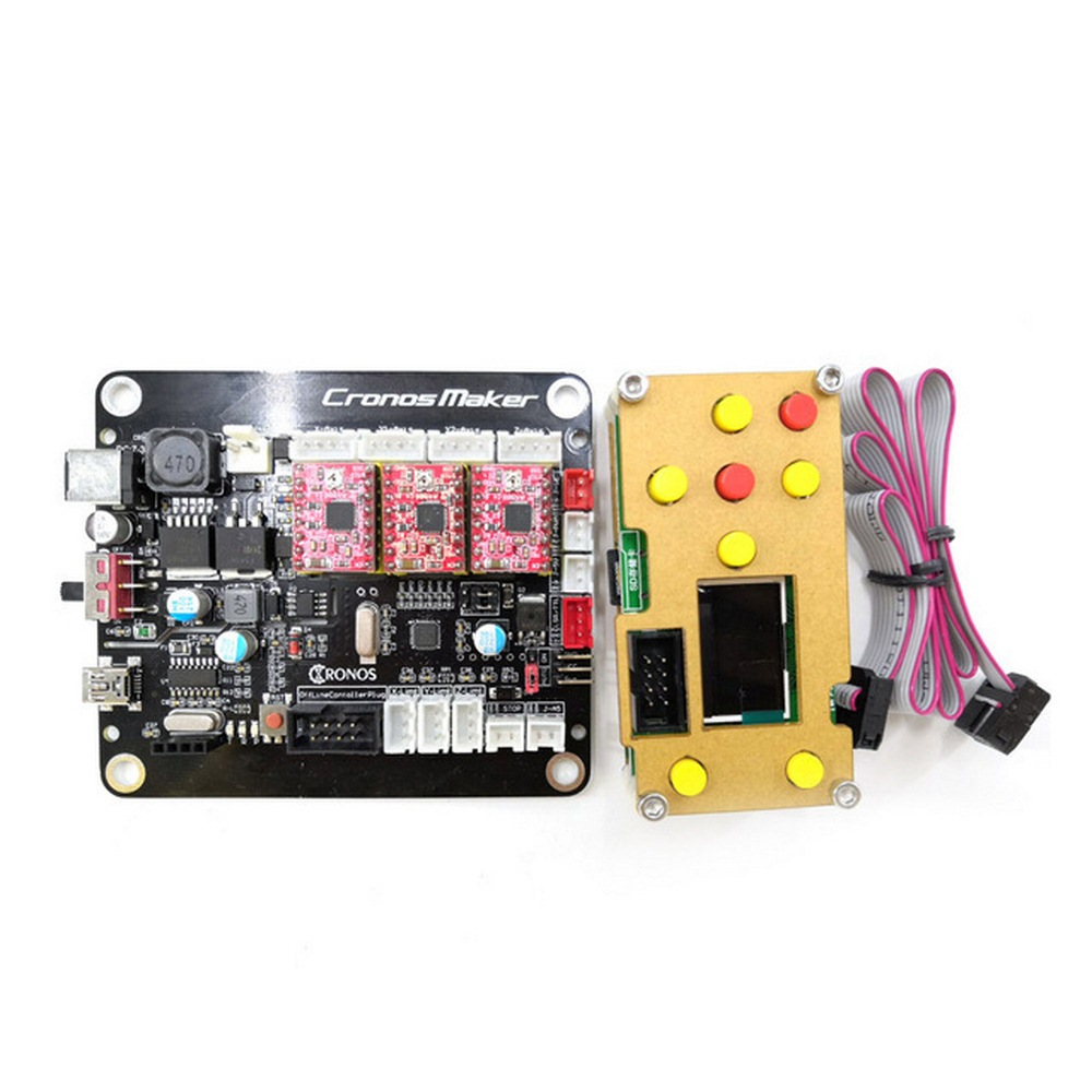 Offline Controller Board 3Axis Stepper Motor Double Y Axis USB Driver Board For 1610 2418 3018