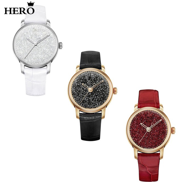 HERO High Quality Original Copy 1:1 With Logo Crystal Quartz Watchband Lady Wrist Watch Free Package Wholesale ManufacturersHERO High Quality Original Copy 1:1 With Logo Crystal Quartz Watchband Lady Wrist Watch Free Package Wholesale Manufacturers