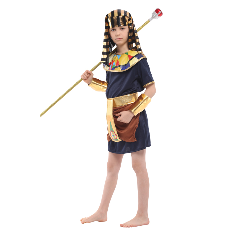 Umorden Purim Halloween Egypt King Prince Warrior Costume Boy Kids Fantasia Egyptian Pharaoh Cosplay Children Carnival Dress in Boys Costumes from Novelty Special Use