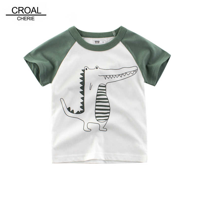 261988e6c435d CROAL CHERIE Baby Boys Clothes Cute Dinosaur Children's Shirts Short Sleeve  Boys T-shirt Summer