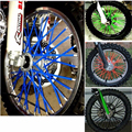 72 pcs Universal Moto Dirt Bike Enduro Off Road Da Borda Da Roda falou com Mortalhas KTM Skins Capas Para HONDA para a YAMAHA para KAWASAKI