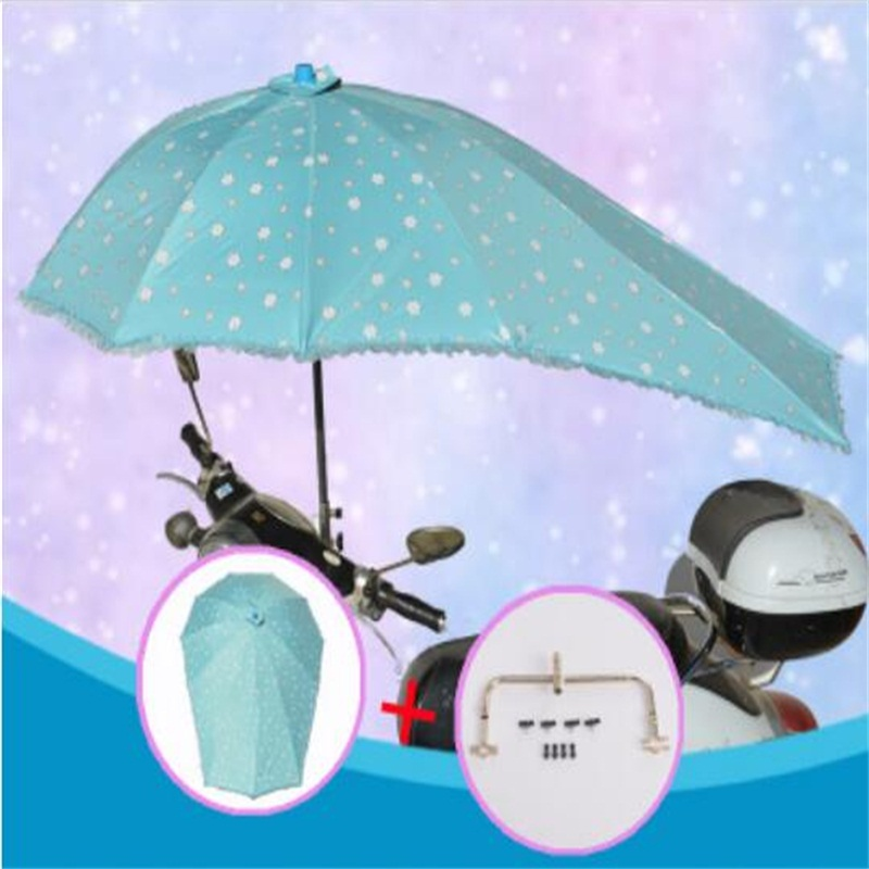 Electric Bicycle UV Protection sunshade Umbrella Motorcycle Rain Umbrella Multifunction Folding Rain Gear