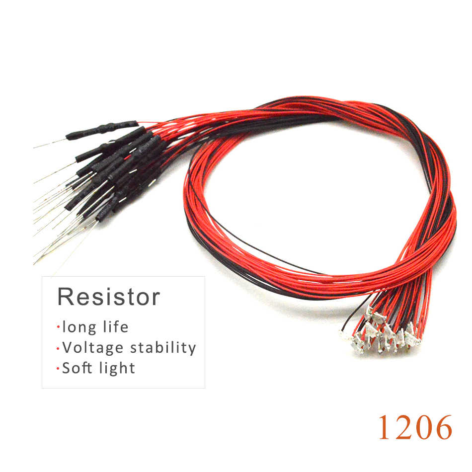 20pcs with 1.5K resistor 1206 SMD model train HO N OO scale Pre-soldered micro litz wired LED leads