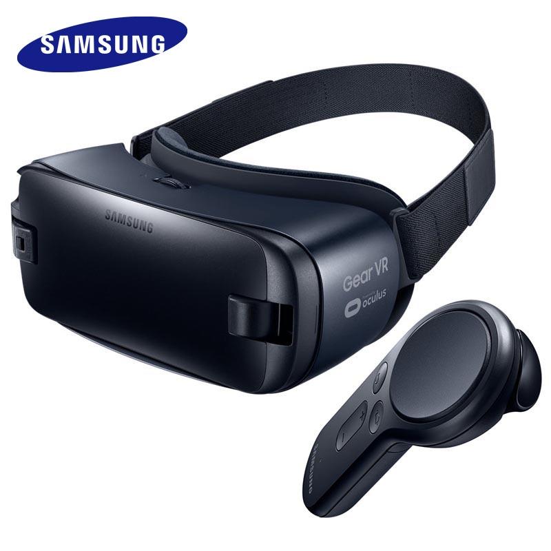 100% original samsung engrenagem vr 4.0 3d óculos vr caixa 3d para samsung galaxy s8 s9 s8 + note7 nota 5 s7 borda s6 smartphones