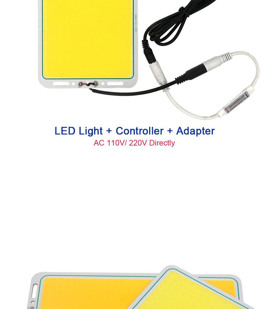200w 12v cob led panel light car lighting bulbs outdoor lamp (8)
