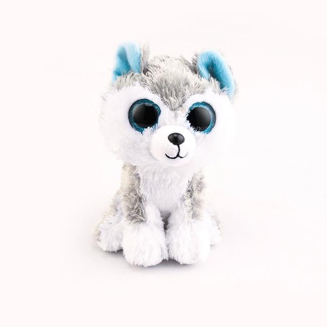 Ty Beanie Boos Big Eyes Plush Toy Doll 10 - 15cm Huskie TY Baby For Kids Birthday Gifts
