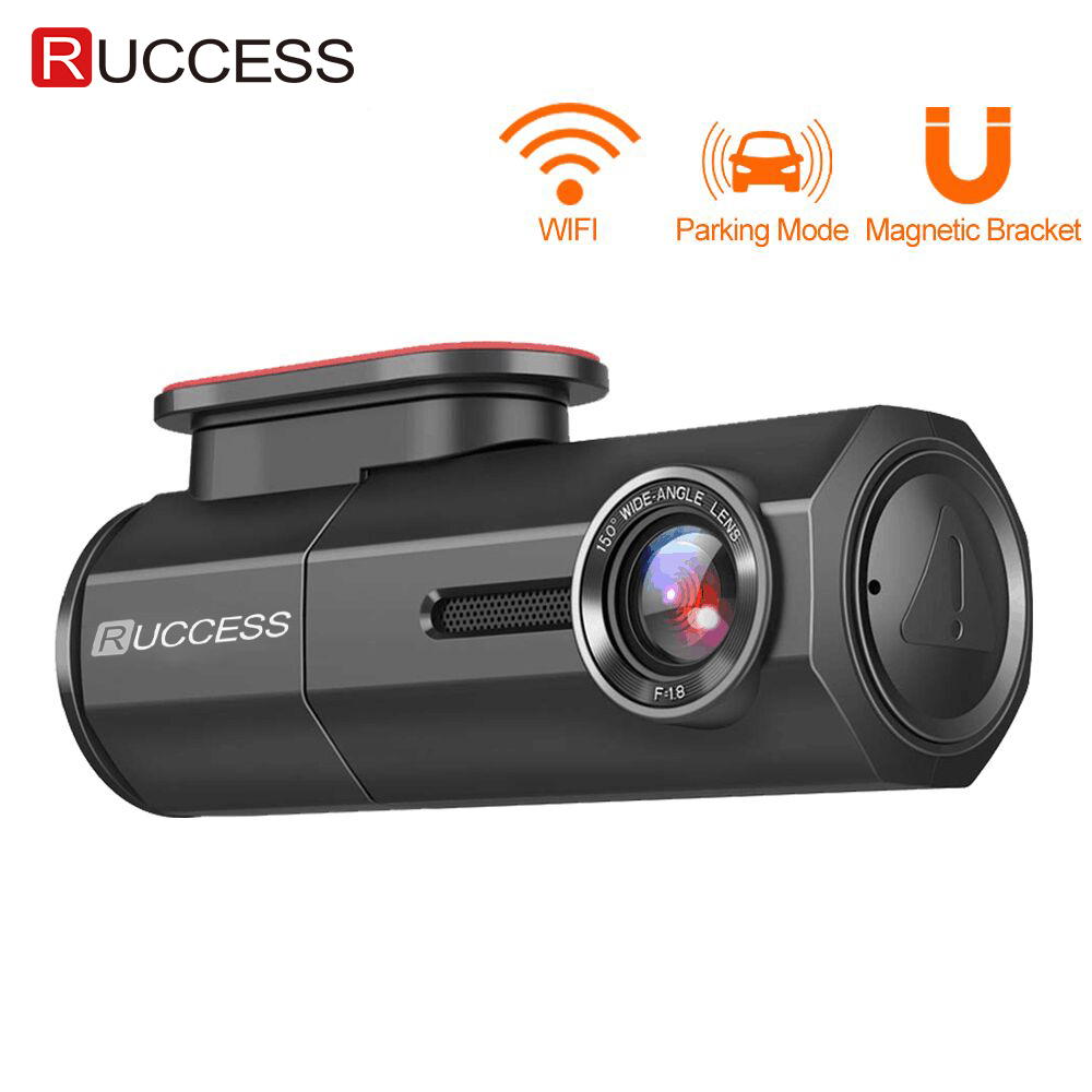 RUCCESS CAR DVR Full HD 1080P Dash Cam with WIFI Car Camera Recorder 24H Parking Monitor