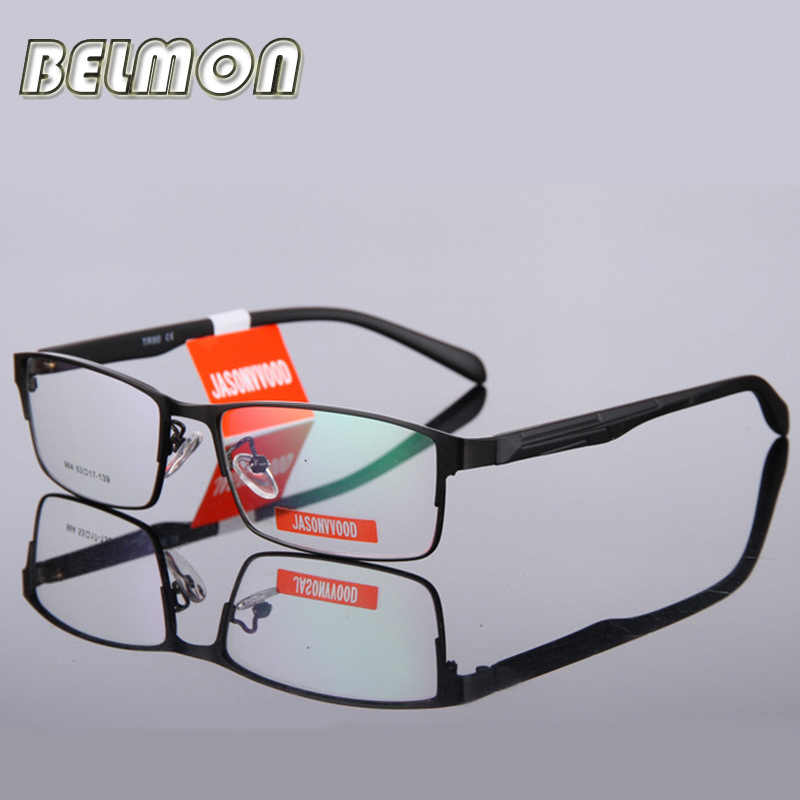bb029b3cc9 BELMON Eyeglasses Frame Men Computer Optical Eye Glasses Spectacle Frame  For Male Transparent Clear Lens Armacao