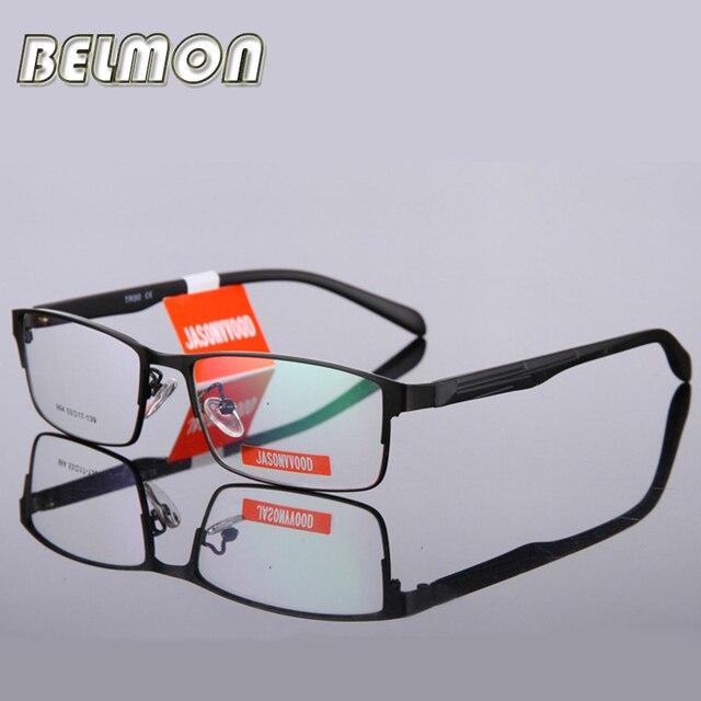 4f55763c766a8 BELMON gafas marco hombres computadora óptica gafas espectáculo marco para  hombre transparente lente de Armação de