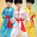 3 Цвет Горячие Продажа По Уходу За Детьми Дети Мальчик Китайский Традиционный Одежда Кунг-Фу Костюм Кунг-Фу Униформа