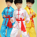 3 Cor Hot Sale Criança Crianças Menino Roupa Tradicional Chinesa Kungfu Terno Uniforme Kung Fu