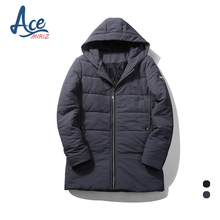 ACEMIRIZ 2017 Top Quality Warm Men's Warm Jacket Windproof Casual Outerwear Thick Medium Long Coat Men Parka T27