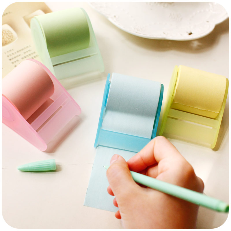 candy colors stationery creative cute notes paper, Xpress convenient stickers, with tape seat, can tear the scrapbook H0072 the tear jar