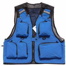 Mens Fishing Vest Jacket Fly Fishing Vest Quick Drying Fishing Jackets Bags Outdoor Advertising & Photography Waistcoats