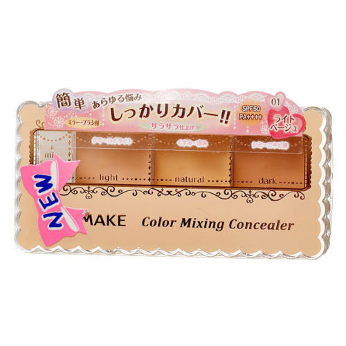 [CANMAKE] 01 LIGHT BEIGE Mixing Color Concealer 3 Shades Palette SPF50 PA++++ корректоры missha the style perfect concealer light beige