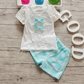 BibiCola summer baby girl clothing sets children cotton lattice clothes sport suits kid casual short t-shirt and plaid pants