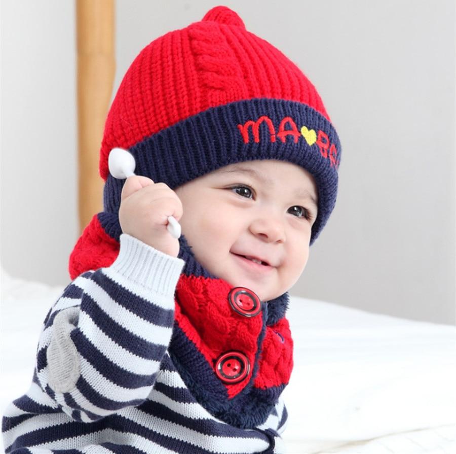 Yyun Toddler Baby Winter Snood Beanie Set Kids Soft Warm Fleece Hat Scarf Set Children Knit Neck Warmer Cap For 6-36 Months