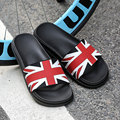 AD AcolorDay 2017 Fashion Unisex Summer Men Slippers Brith Style Designer Flip Flops Men Shoes Genuine Leather Brand Beach Shoes