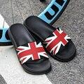 AD AcolorDay 2017 Moda Unisex Verano Zapatillas Hombres Brith Diseñador Estilo Flip Flop de Los Hombres Zapatos de Cuero Genuino Marca de Zapatos de Playa