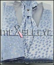 new arrive  formal wear high quality waistcoat (vest+ascot tie+cufflinks+handkerchief)