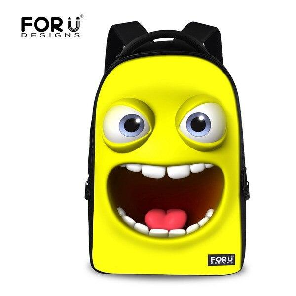 ФОТО 2017 hot sale men's travel bags student school bags 3D print smile face bag emoji backpacks for teenager cartoon boys schoolbag