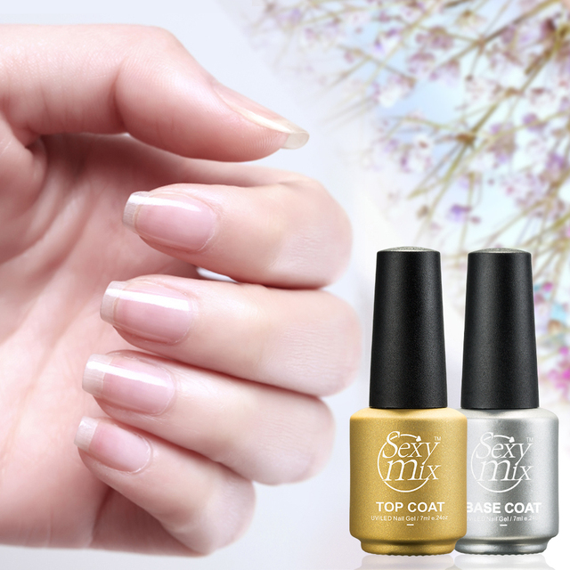 Ymix 2pcs Base Top Coat Gel Lacquer Kits For Nail Art Soak Off Uv