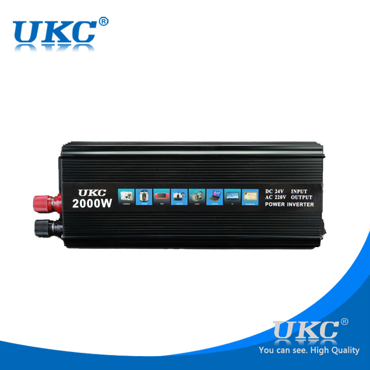 ФОТО UKC Car Power Inverter DC 12V to AC 220V 2000W Vehicle Converter Car Charger adapter