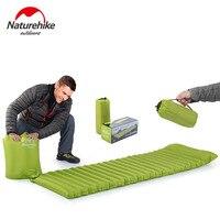 NH NatureHike Innovatieve Slaapmatje Snelle Vullen Air Slaapzak Opblaasbare Ultralight Camping Air Matras met kussen 550g