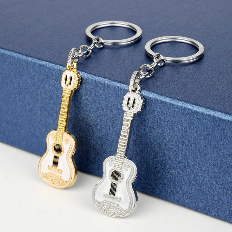 Dongsheng coco guitarra modelo chaveiro de metal e saco pingente de jóias chaveiro bonito presente-50
