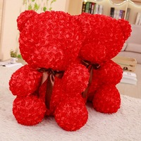 1pc 60cm Lovely Rose Bear Plush Animals Doll Toys Valentine Gifts Birthday Gifts Festival Presents