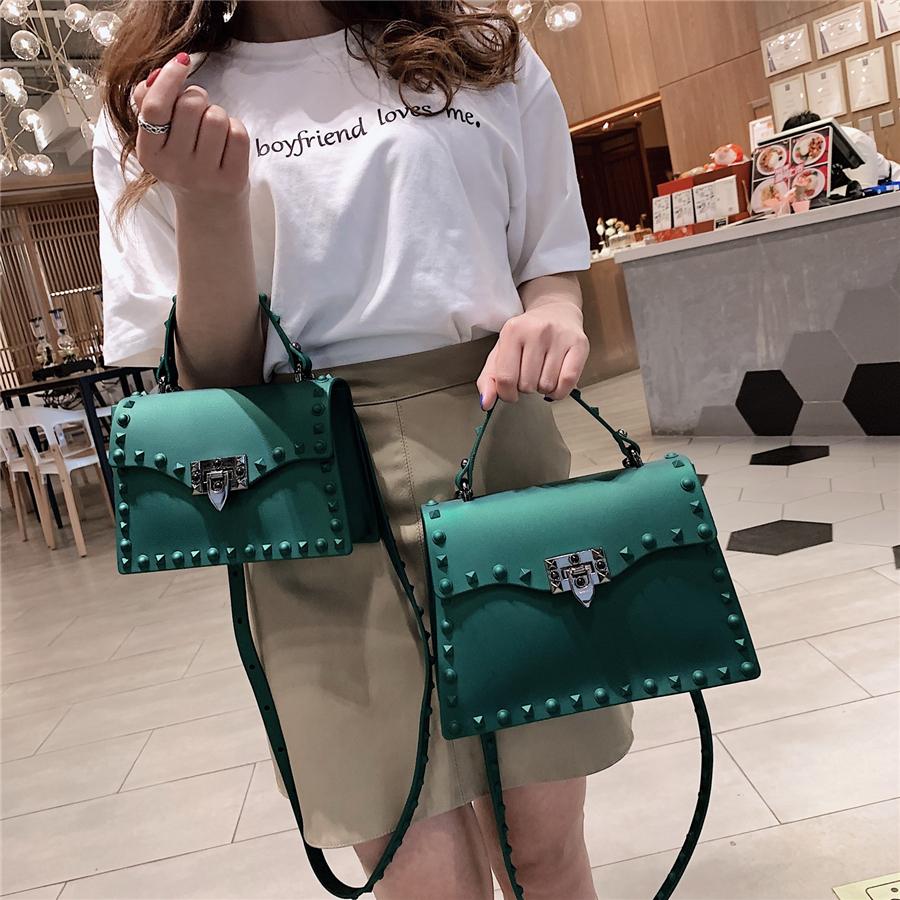 High Quality Women PVC Handbags Fashion Ladies Shoulder Bag Luxury Designer Crossbody Bags for Women Small Rivet Messenger Bags