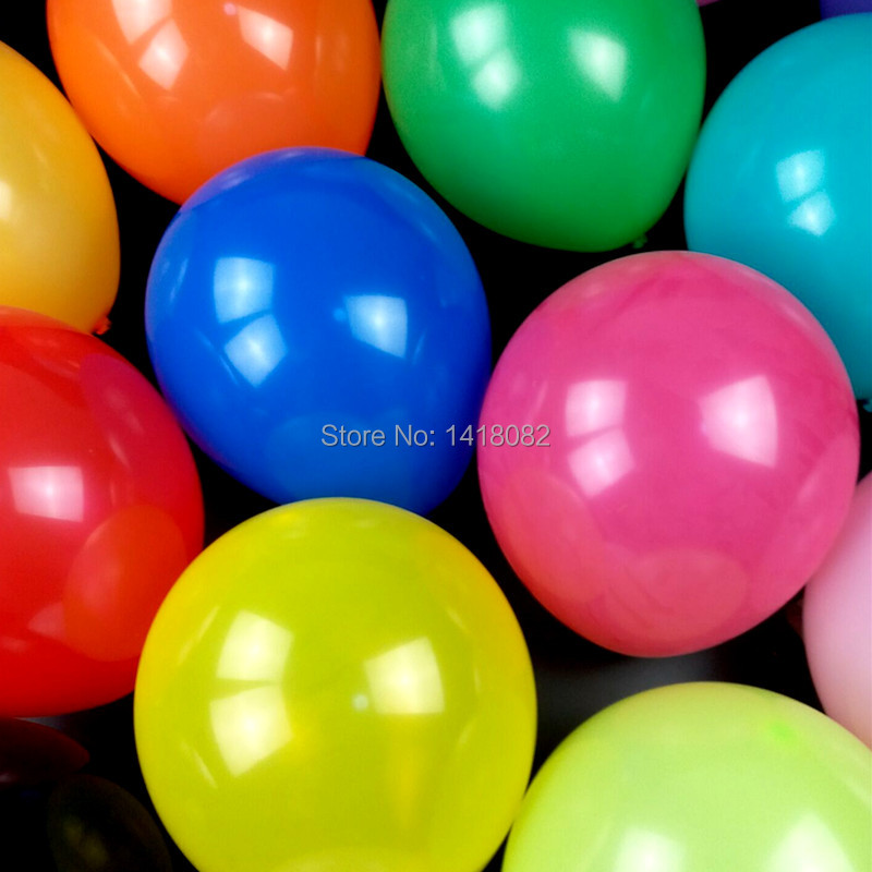 100pcs 12inch 2.8g round colorful balloon Thickening high quality wedding childr