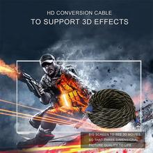 High Speed 15 Meter/49feet Blue + Black HDMI 4Kx2K Definition Cable 2 PCS Supports 3D & Audio Return Channel