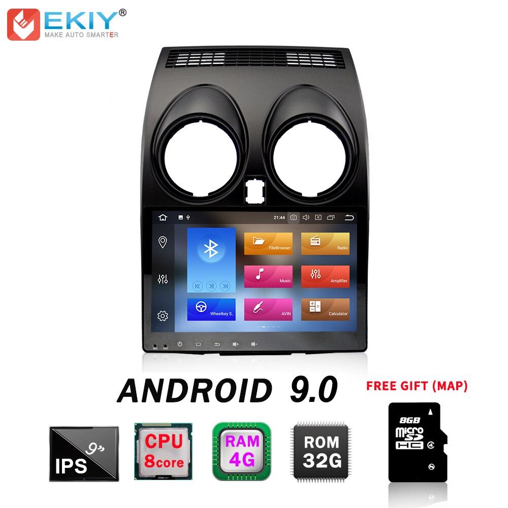 EKIY 2 Din Car Multimedia Player para Nissan Qashqai 2010 Dualis 2007-2014 Auto Rádio de Navegação GPS Unidade de Cabeça android 9.0G + 32 4G
