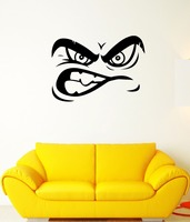 Wall Decal Mimicry Face Eyes Mouth Emotion Anger Grin Vinyl Stickers