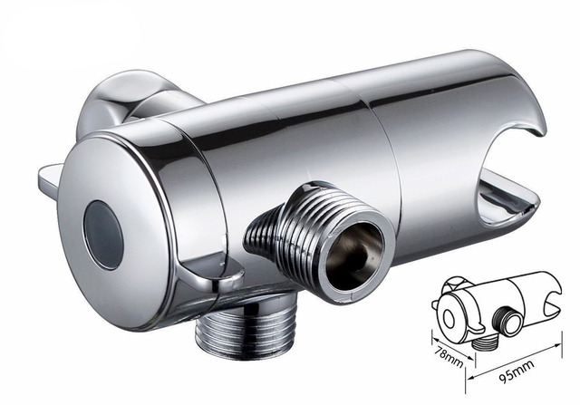 3 Way Shower Head Diverter Valve, Shower Arm Mounted With Shower Holder  04 051