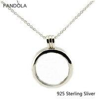 San Valentino Collana 925 Sterling Argento Medaglione Galleggiante Pendente D'argento E Collana In Argento Collane per le Donne