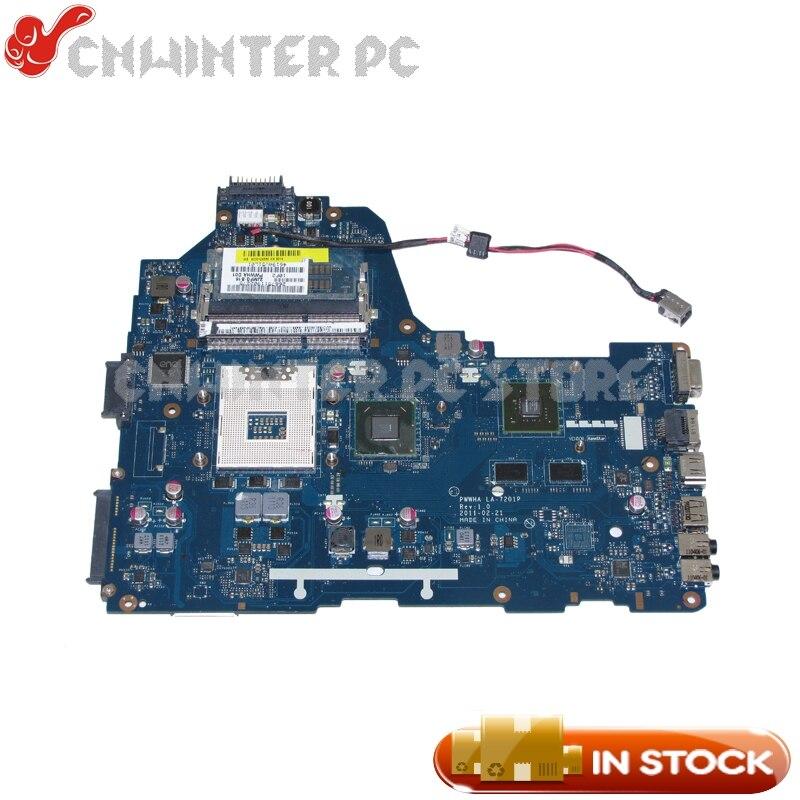 NOKOTION LA-7201P REV 1.0 K000124380 For Toshiba Satellite C660 Laptop Motherboard HM65 DDR3 GT310 Video card