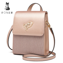 FOXER Brand Lady Cellphone Bags Female Leather Shoulder Bag Girl's MINI Crossbody Bags Women Evening bag Valentine's Day present foxer brand 2018 women s leather bag fashion crossbody bags for women chain bags girl shoulder bag gift for valentine s day