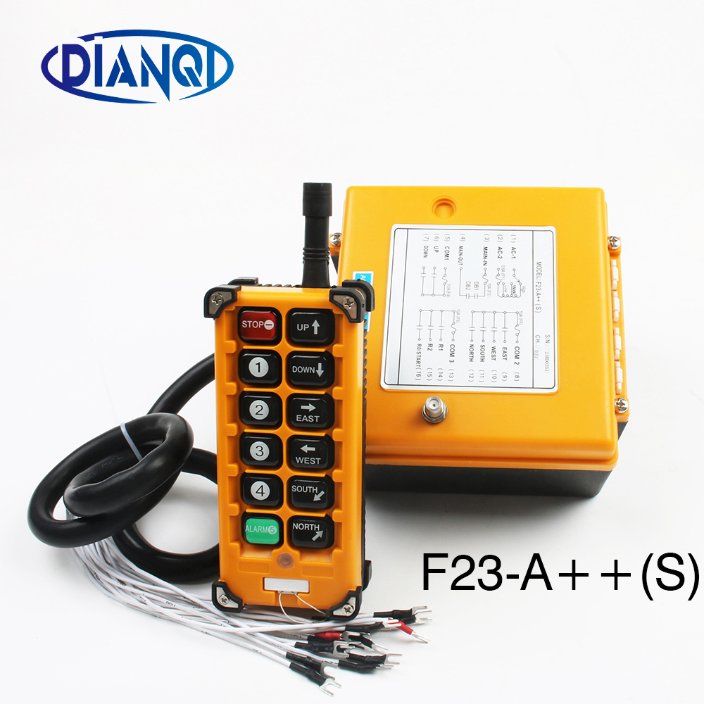 Industrial Wireless Radio remote controller switch 1 receiver 1 transmitter speed control Hoist Crane Control Lift