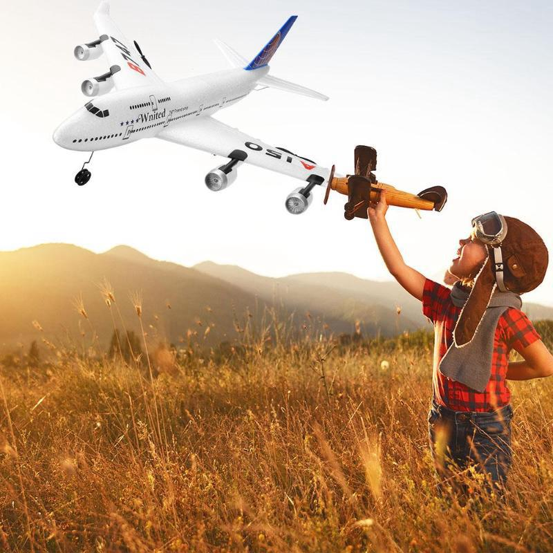 Image 2 - RC Air passenger aircraft A380 Airplane 2.4G 3CH Simulation EPP Fixed Wing Remote Control Aircraft Outdoor RC Plane Toys-in RC Airplanes from Toys & Hobbies