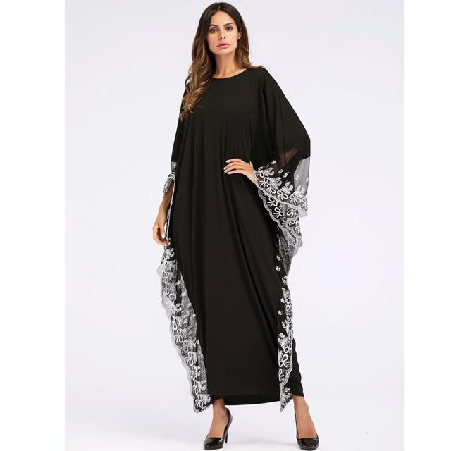 UAE Kaftan Abaya Dubai Indonesia Robe Arab Women Long Embroidery Muslim Hijab Dress Turkish Islamic Dress 1