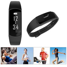 Newest Bluetooth 4.0 outdoor Sports Heart Rate Monitor Smart Wristband Pedometer Fitness Tracker Bracelet For Android 4.3 iOS 7