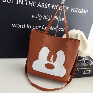 Image 3 - Disney Mickey Mouse lady kreskówkowa torba na ramię torba modna torebka odzież akcesoria wysoka pojemność przechowywania torba na prezent