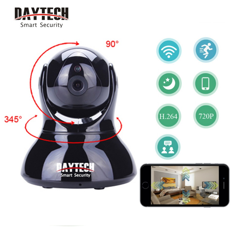 DAYTECH IP Camera Wireless Home Security WiFi Camera Baby Network Monitor Wi-Fi Video Two Way Audio Night Vision Motion Detect robot camera wifi 960p 1 3mp hd wireless ip camera ptz two way audio p2p indoor night vision wi fi network baby monitor security