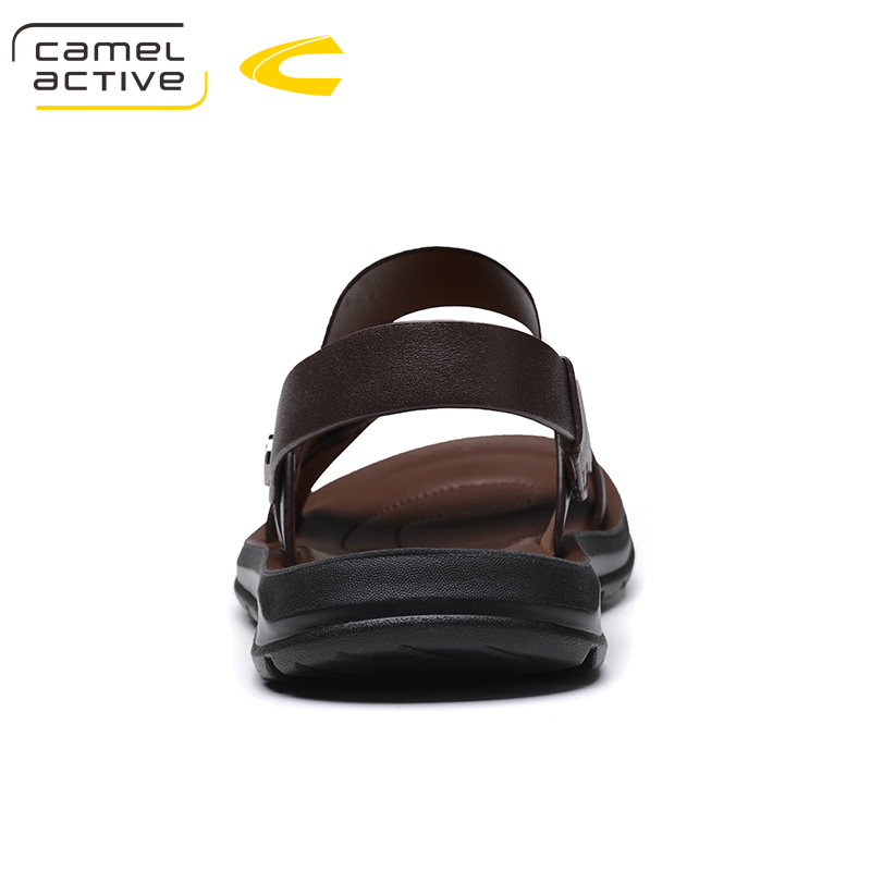 Camel Active Brand Summer Casual Male Sandals For Men Shoes Genuine Leather Quality Walking Beach Comfortable Designer Sandals 9